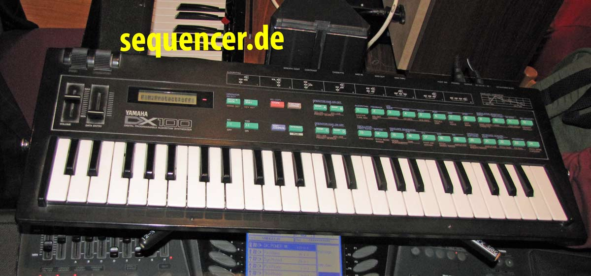 Yamaha DX100 synthesizer