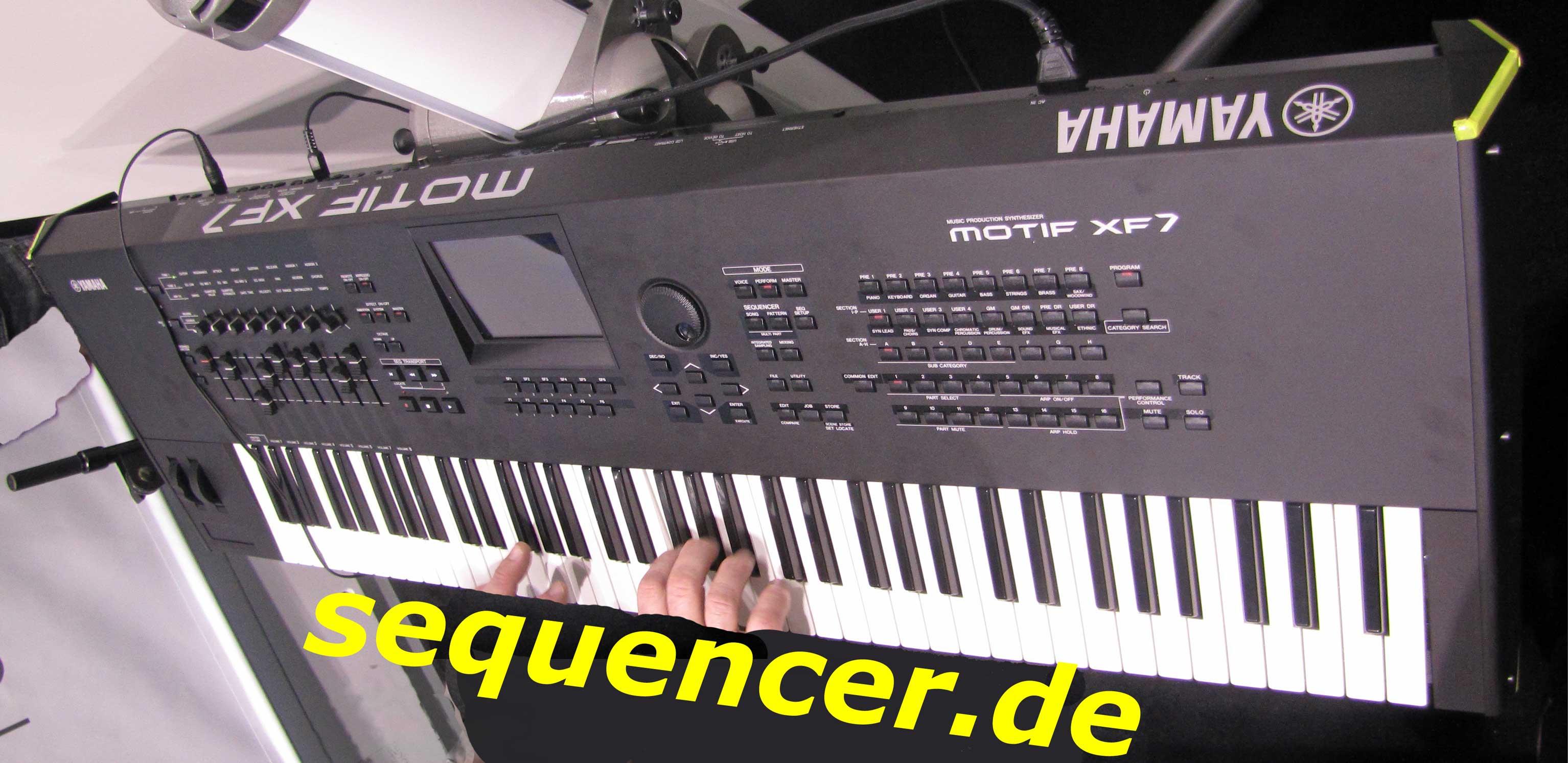 Yamaha Motif XF6, Motif XF7, Motif XF8 Digital Synthesizer