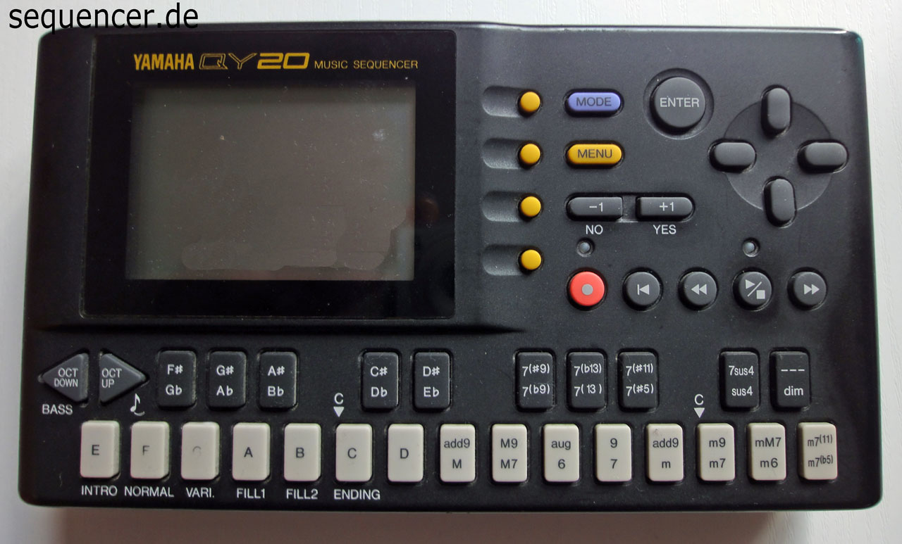 Yamaha Qy20 Qy22 Digital Synthesizer Workstation Sequencer
