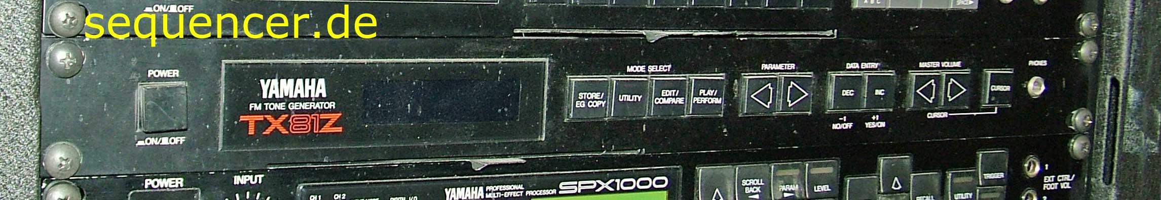 Yamaha TX-81z Yamaha TX-81z synthesizer