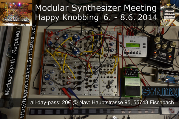 Happy Knobbing 2014 Modular Meeting Germany - Flyer