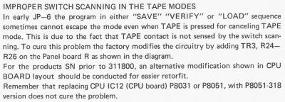 Improper Switch Scanning In The Tape Modes.JPG